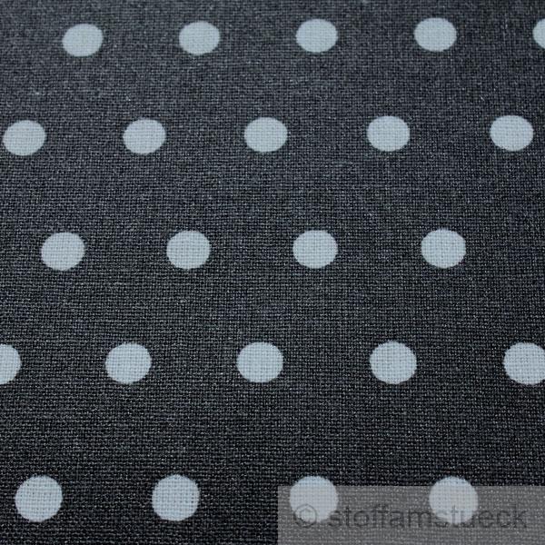 stoff baumwolle acryl punkte klein anthrazit wei regenjacke beschichtet ebay. Black Bedroom Furniture Sets. Home Design Ideas