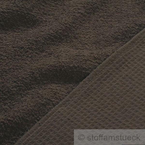 stoff baumwolle frottee waffelpiqu braun marron waffelpikee pique kaufen bei. Black Bedroom Furniture Sets. Home Design Ideas