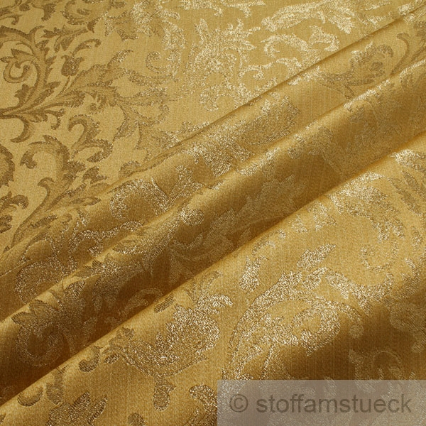 stoff polyester gold jacquard gold lurex goldbrokat barock rokoko 300 cm breit ebay. Black Bedroom Furniture Sets. Home Design Ideas