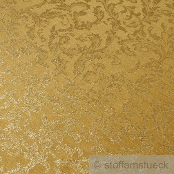 stoff polyester gold jacquard gold lurex goldbrokat barock rokoko 300 cm breit ebay. Black Bedroom Furniture Sets. Home Design Ideas
