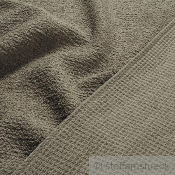 stoff baumwolle frottee waffelpiqu dunkelbeige beige waffelpikee waffelpique kaufen bei. Black Bedroom Furniture Sets. Home Design Ideas