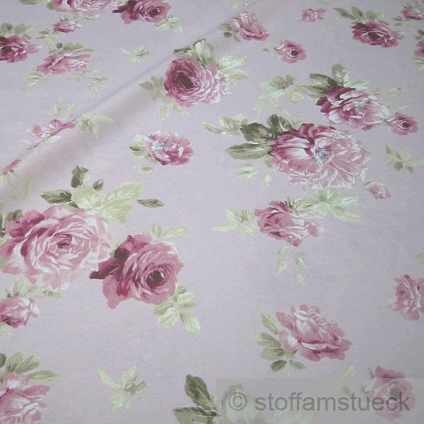 stoff baumwolle polyester rosa rose rosen 280 cm breit pflegeleicht kaufen bei. Black Bedroom Furniture Sets. Home Design Ideas