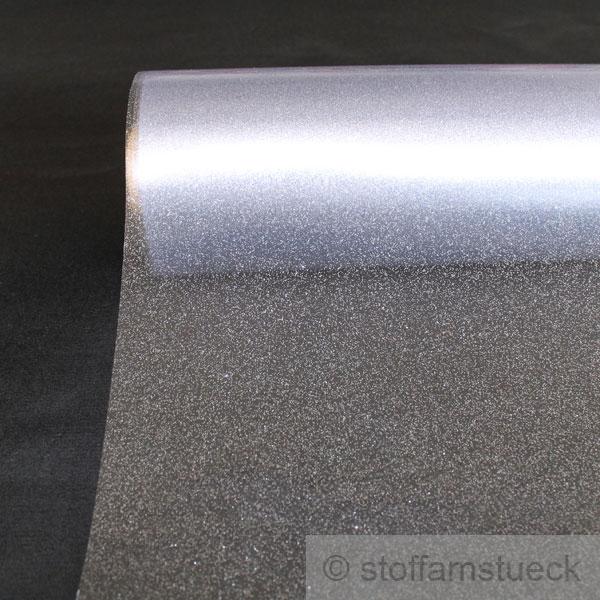 meterware pvc folie glitter silber klarsichtfolie tischauflage ko tex standard ebay. Black Bedroom Furniture Sets. Home Design Ideas