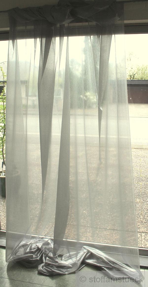 stoff voile silber glitzernd transparent 298 cm breit. Black Bedroom Furniture Sets. Home Design Ideas