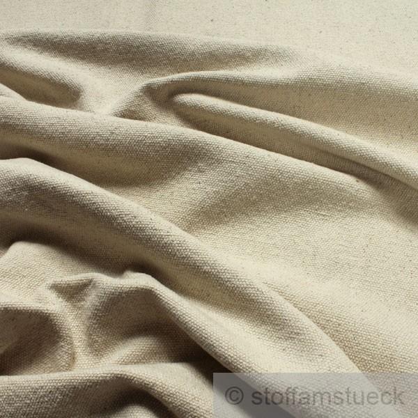 stoff baumwolle leinwand natur grob ungef rbt baumwollstoff ebay. Black Bedroom Furniture Sets. Home Design Ideas