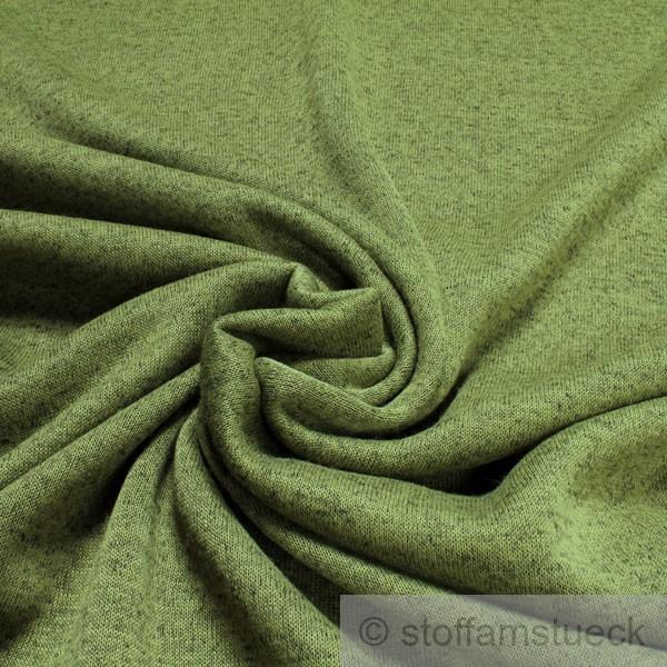 stoff polyester single jersey gr n meliert angeraut sweatshirt weich dehnbar ebay. Black Bedroom Furniture Sets. Home Design Ideas