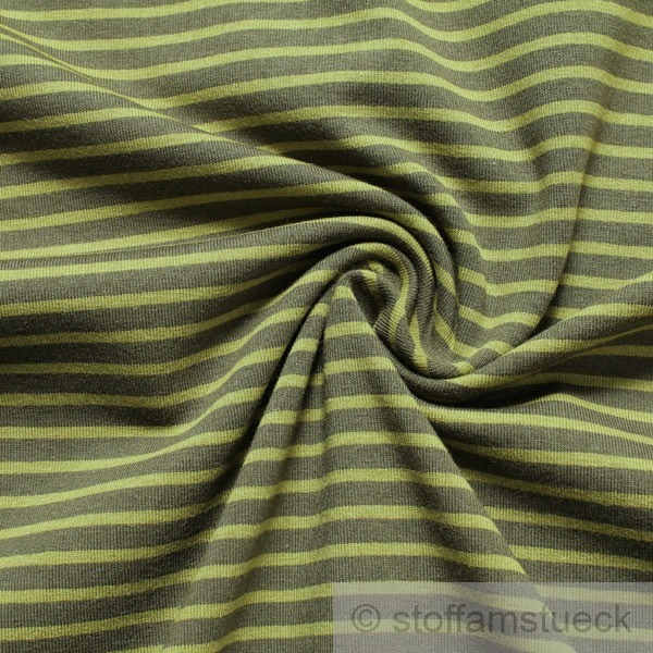 baumwolle lycra single jersey streifen oliv gr n besondere eigenschaften ko tex standard. Black Bedroom Furniture Sets. Home Design Ideas