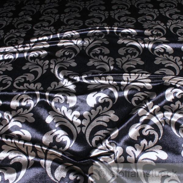 viskose samt onament nachtblau material samt. Black Bedroom Furniture Sets. Home Design Ideas