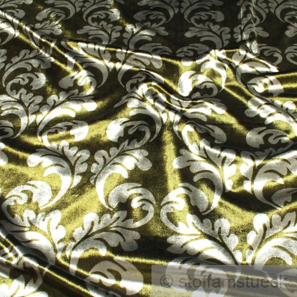 stoff samt gr n ornament polstersamt polsterstoff m belbezug martindale ebay. Black Bedroom Furniture Sets. Home Design Ideas