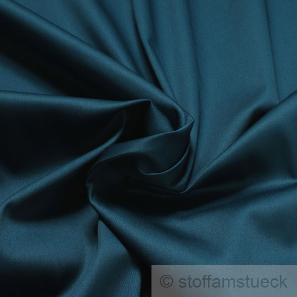 baumwolle lycra satin petrol farbe farbe blau. Black Bedroom Furniture Sets. Home Design Ideas