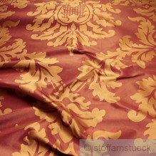 Seide Jacquard bordeaux gold Ornament