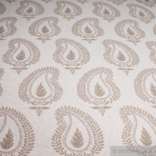 Wolle / Polyamid Flanell Paisley natur beige