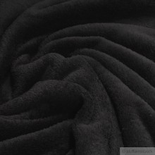 Polyester Wellness Fleece schwarz