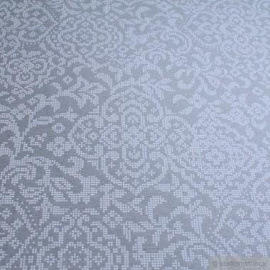 baumwolle polyester jacquard ornament hellgrau muster ornament. Black Bedroom Furniture Sets. Home Design Ideas